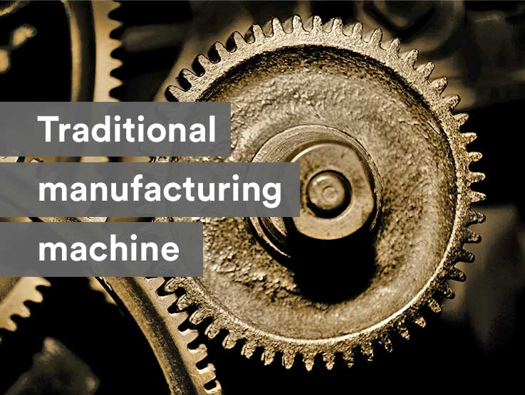 Traditional manufacturing machine